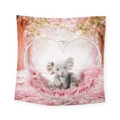 Elephant Heart Plush Vertical Toy Square Tapestry (small)
