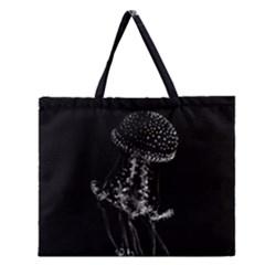 Jellyfish Underwater Sea Nature Zipper Large Tote Bag