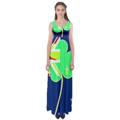 Irish Shamrock New Zealand Ireland Funny St. Patrick Flag Empire Waist Maxi Dress
