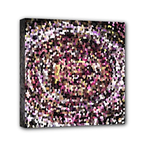 Mosaic Colorful Abstract Circular Mini Canvas 6  X 6