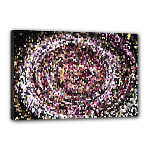 Mosaic Colorful Abstract Circular Canvas 18  X 12