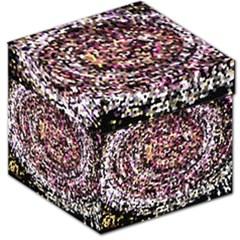 Mosaic Colorful Abstract Circular Storage Stool 12