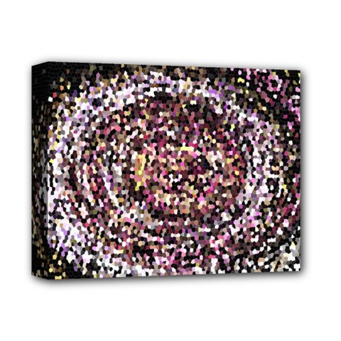 Mosaic Colorful Abstract Circular Deluxe Canvas 14  X 11