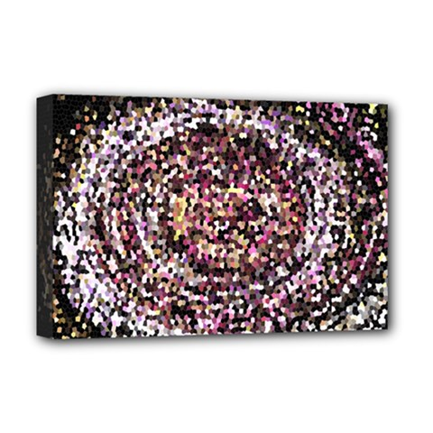 Mosaic Colorful Abstract Circular Deluxe Canvas 18  X 12