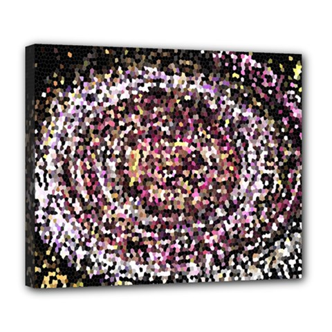 Mosaic Colorful Abstract Circular Deluxe Canvas 24  X 20