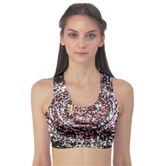 Mosaic Colorful Abstract Circular Sports Bra