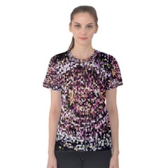 Mosaic Colorful Abstract Circular Women s Cotton Tee
