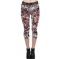 Mosaic Colorful Abstract Circular Capri Leggings