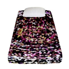 Mosaic Colorful Abstract Circular Fitted Sheet (single Size)