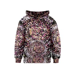 Mosaic Colorful Abstract Circular Kids  Pullover Hoodie