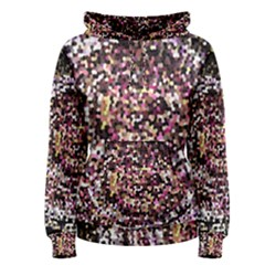 Mosaic Colorful Abstract Circular Women s Pullover Hoodie