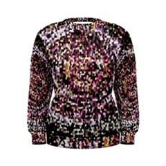 Mosaic Colorful Abstract Circular Women s Sweatshirt