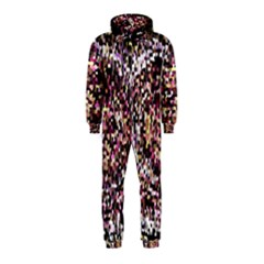 Mosaic Colorful Abstract Circular Hooded Jumpsuit (kids)
