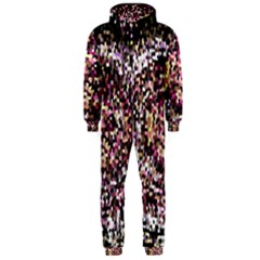 Mosaic Colorful Abstract Circular Hooded Jumpsuit (Men)