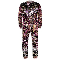 Mosaic Colorful Abstract Circular Onepiece Jumpsuit (men)
