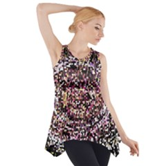 Mosaic Colorful Abstract Circular Side Drop Tank Tunic
