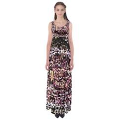 Mosaic Colorful Abstract Circular Empire Waist Maxi Dress