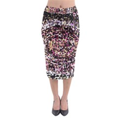 Mosaic Colorful Abstract Circular Midi Pencil Skirt
