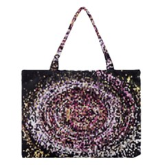 Mosaic Colorful Abstract Circular Medium Tote Bag