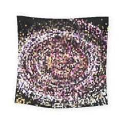 Mosaic Colorful Abstract Circular Square Tapestry (small)