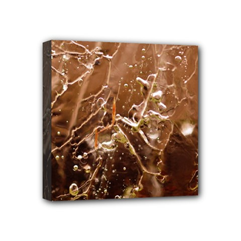 Ice Iced Structure Frozen Frost Mini Canvas 4  X 4