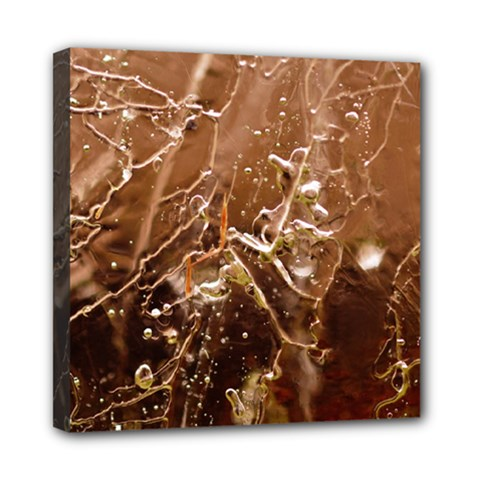 Ice Iced Structure Frozen Frost Mini Canvas 8  X 8