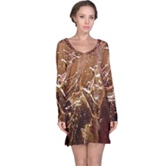 Ice Iced Structure Frozen Frost Long Sleeve Nightdress