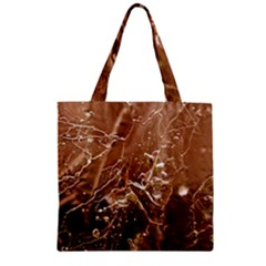 Ice Iced Structure Frozen Frost Zipper Grocery Tote Bag