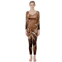 Ice Iced Structure Frozen Frost Long Sleeve Catsuit