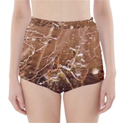 Ice Iced Structure Frozen Frost High Waisted Bikini Bottoms