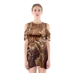Ice Iced Structure Frozen Frost Shoulder Cutout One Piece