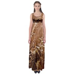 Ice Iced Structure Frozen Frost Empire Waist Maxi Dress