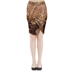 Ice Iced Structure Frozen Frost Midi Wrap Pencil Skirt