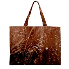 Ice Iced Structure Frozen Frost Medium Zipper Tote Bag