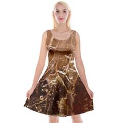 Ice Iced Structure Frozen Frost Reversible Velvet Sleeveless Dress