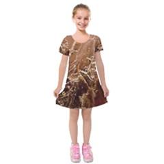 Ice Iced Structure Frozen Frost Kids  Short Sleeve Velvet Dress