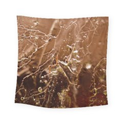 Ice Iced Structure Frozen Frost Square Tapestry (small)