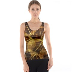 Leaves Autumn Texture Brown Tank Top