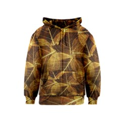 Leaves Autumn Texture Brown Kids  Zipper Hoodie