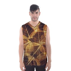 Leaves Autumn Texture Brown Men s Basketball Tank Top