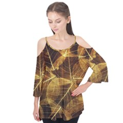 Leaves Autumn Texture Brown Flutter Tees