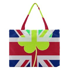 Irish British Shamrock United Kingdom Ireland Funny St. Patrick Flag Medium Tote Bag