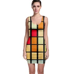 Mozaico Colors Glass Church Color Sleeveless Bodycon Dress