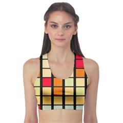 Mozaico Colors Glass Church Color Sports Bra