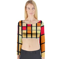 Mozaico Colors Glass Church Color Long Sleeve Crop Top