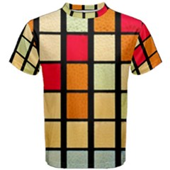 Mozaico Colors Glass Church Color Men s Cotton Tee