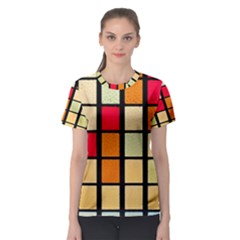 Mozaico Colors Glass Church Color Women s Sport Mesh Tee
