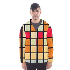 Mozaico Colors Glass Church Color Hooded Wind Breaker (men)