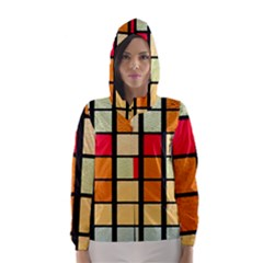 Mozaico Colors Glass Church Color Hooded Wind Breaker (women)