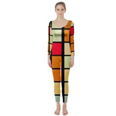 Mozaico Colors Glass Church Color Long Sleeve Catsuit